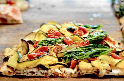 pizza alla pala con zucchine